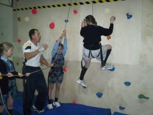 Climbing wall at CPS