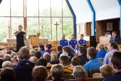 Q&A in chapel with Graeme Le Saux